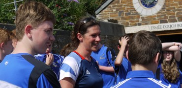 Looe Rowing Club welcomes Olympian Annie Vernon