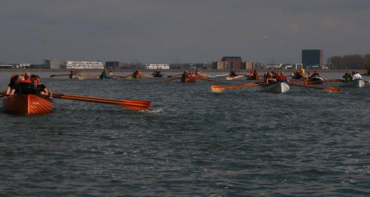 Cornish Pilot gig rowing in Muiden, Netherlands